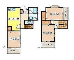 [テラスハウス] 神奈川県横浜市戸塚区舞岡町 の賃貸【/】の間取り