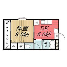 千葉県千葉市緑区おゆみ野3丁目の賃貸アパートの間取り