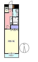 メゾンドコア2番館[105号室]の間取り