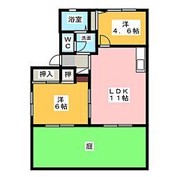 サントピアA・B[1階]の間取り