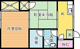 中井ハイツ[103号室]の間取り