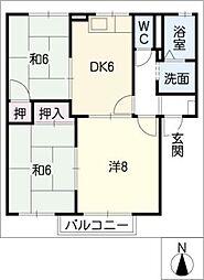 クレールパル[2階]の間取り
