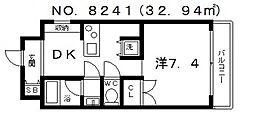 ジリオ大阪城南[3階]の間取り