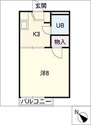 ハイム佐藤[2階]の間取り