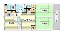 ハイツ野田[704号室]の間取り