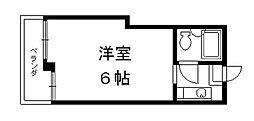 京都府京都市下京区中野之町の賃貸マンションの間取り