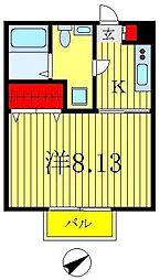 セナリオフォルム松戸新田[107号室]の間取り
