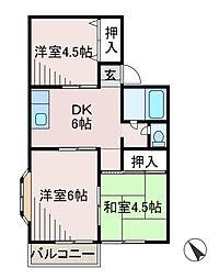 スカイハイツA[2階]の間取り