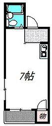 大阪モノレール 大日駅 徒歩16分の賃貸マンション 3階ワンルームの間取り
