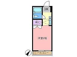 梅田ハイム[207号室]の間取り
