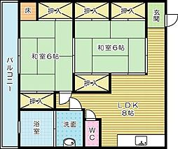 西川ビル[302号室]の間取り