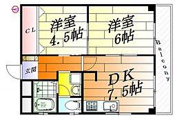 ナンノ第5号館[3階]の間取り