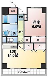 ラフィネ淀川[7階]の間取り