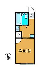 神奈川県川崎市麻生区上麻生2丁目の賃貸アパートの間取り