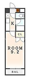 第11春木マンション[213A号室]の間取り