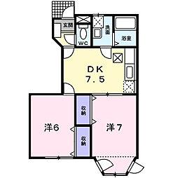 シャンベスカ[1階]の間取り
