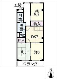 サンシャイン徳重[2階]の間取り