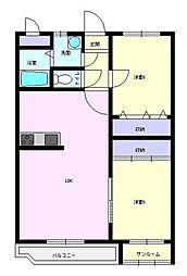 ユーミーマンション加賀谷 A[102号室]の間取り