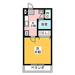 ラ・セゾンK[2階]の間取り