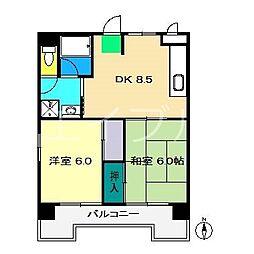 レジデンス・ノナミ[7階]の間取り
