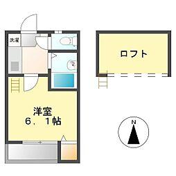 シュノンソー名古屋[103号室]の間取り