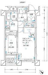 ヴェルト横濱石川町[602号室]の間取り