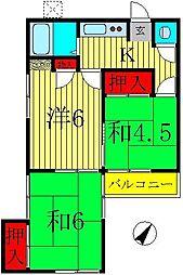 笹マンション[102号室]の間取り