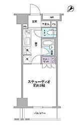 グランスイート銀座レスティモナーク 7階1Kの間取り