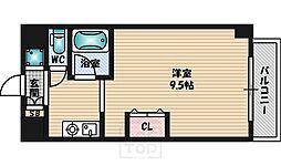 クレールメゾン[6階]の間取り