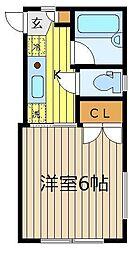 シャロームハウス[1階]の間取り