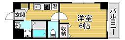 京阪電鉄中之島線 中之島駅 徒歩9分の賃貸マンション 7階1Kの間取り
