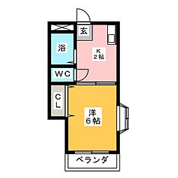 シャトレー神松[2階]の間取り
