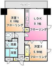 K.S柿生[5階]の間取り