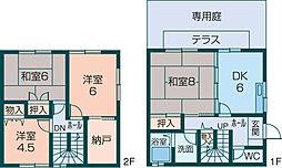 [テラスハウス] 奈良県橿原市久米町 の賃貸【奈良県 / 橿原市】の間取り