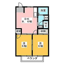 ひまわり A棟[1階]の間取り