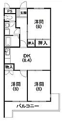 第2マーブルハイツ[3階]の間取り