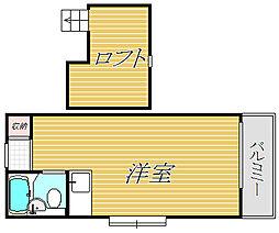 世田谷KMハイツ[2階]の間取り