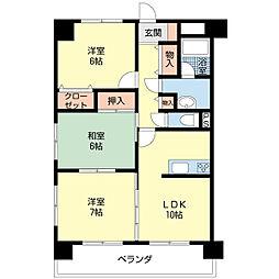 新潟県新潟市中央区鳥屋野3丁目の賃貸マンションの間取り