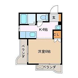 ふじよしマンション[5階]の間取り