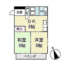 メゾンシミズパート2 2階[203号室]の間取り