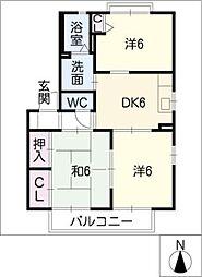 Casa・AcordeB棟[2階]の間取り