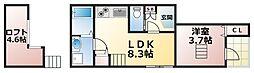 大阪府大阪市生野区新今里6丁目の賃貸マンションの間取り