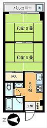 セレニティ西新井[303号室]の間取り