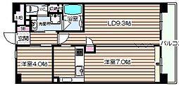 エスリード堂島[12階]の間取り