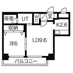 ラプラス裏参道[6階]の間取り