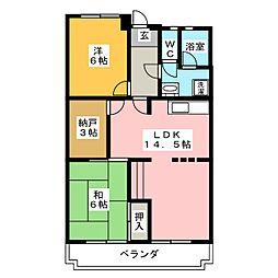 第2橋本マンション[1階]の間取り