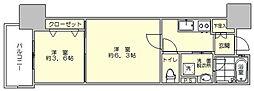 アクタス博多駅東2スクエア[9階]の間取り