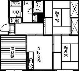 コーポ井口[501号室]の間取り