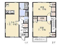 [一戸建] 神奈川県横須賀市舟倉1丁目 の賃貸【/】の間取り