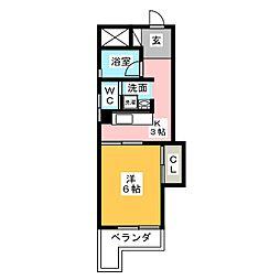 マンション植田[3階]の間取り
